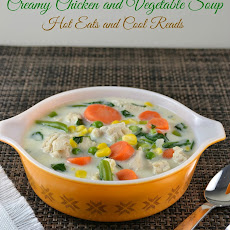 Creamy Chicken and Vegetable Soup Recipe!