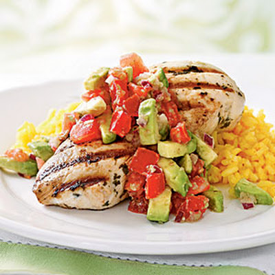 Cilantro-Lime Chicken with Avocado Salsa