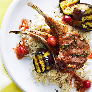 Grilled Lamb Chops with Turkish Grape Sauce