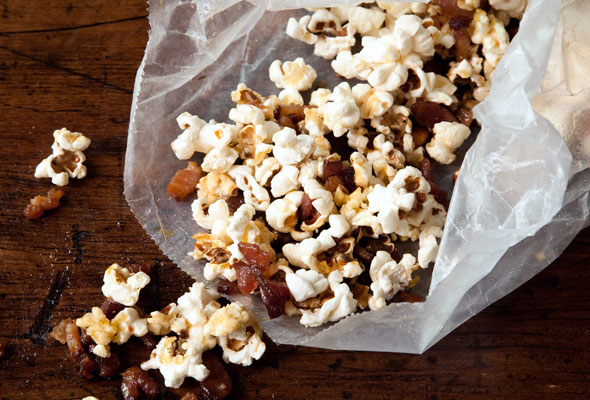Popcorn with Bacon Fat, Bacon, and Maple Syrup Recipe | Yummly