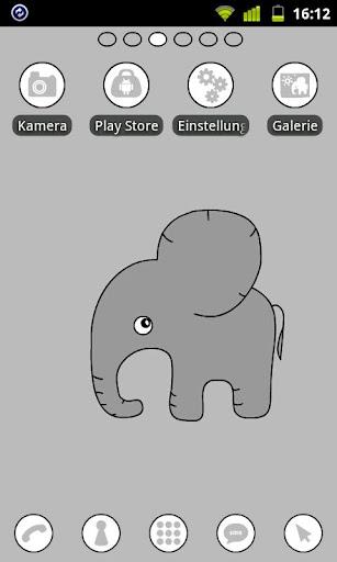Elephant Theme GO Launcher EX