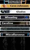 Screenshot of Portal 2 Soundboard