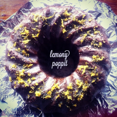 Lemon-Draped Poppyseed Cake