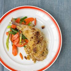 Crispy Mustard Chicken with Carrots