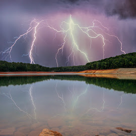 Dwellingup dam Western Australia by Craig Eccles - News & Events Weather & Storms ( thunder, water, lightning strike, cloud., news, lake, storm, lightning, lightning bolt, thunder strike, event, dam, weather, thunder bolt, rain )