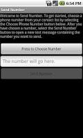 Screenshot of Send Number