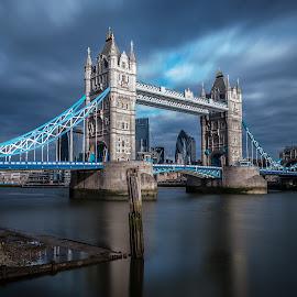Tower Bridge by Dimitar Hristov  - Buildings & Architecture Bridges & Suspended Structures ( london, thames, tower bridge, long exposure, nd filter,  )