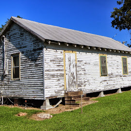 Old Cajun House by Shane Adams - Buildings & Architecture Homes ( old house, home, cajun, peeling paint, louisiana, house, bayou )
