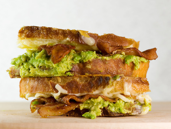 Grilled Cheese with Bacon and Avocado Recipe | Yummly