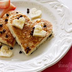Heart-Shaped Chocolate Chip Banana Pancakes