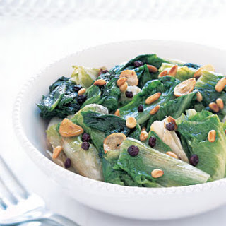 Braised Escarole with Currants and Pine Nuts