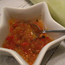 Spicy Texas Cucuzza-Pepper Relish