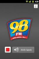 Screenshot of Rádio 98 FM Correio SAT
