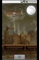 Screenshot of Steampunk Blimp City LWP