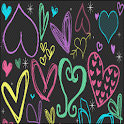 Girly Hearts Keyboard Skin icon
