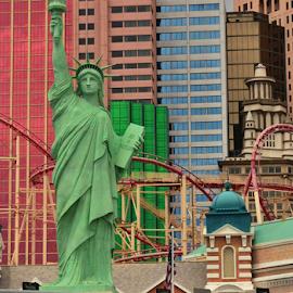 New York Vegas Style by Darren Sutherland - City,  Street & Park  Street Scenes