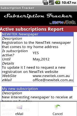 【免費生產應用App】Subscription Tracker-APP點子