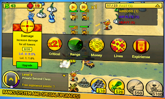 Screenshot of tower defense Line Free