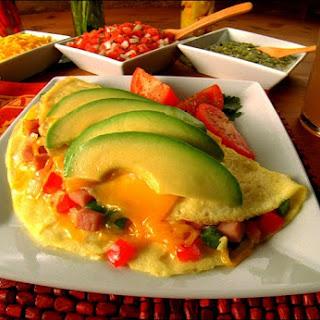 Bacon, Avocado And Cherry Tomato Omelettes Recipes — Dishmaps
