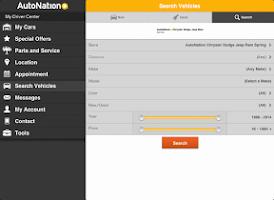 Screenshot of My AutoNation