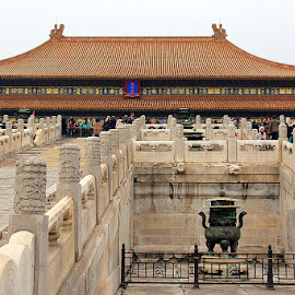 Forbidden City, Beijing by Leong Jeam Wong - Buildings & Architecture Statues & Monuments ( statue, emperor, carving, court, monument, intrinsic, palace, forbidden, design, heritage, wall, city )