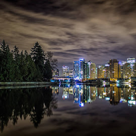 Vancouver Defined.  A Forest within a City. by Adam Menzies - City,  Street & Park  Skylines ( renewal, green, trees, forests, nature, natural, scenic, relaxing, meditation, the mood factory, mood, emotions, jade, revive, inspirational, earthly, , relax, tranquil, tranquility )