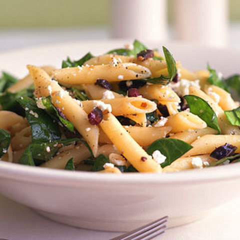 Penne with Spinach, Feta, and Olives