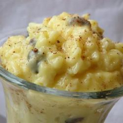 Raisins and Rice Pudding
