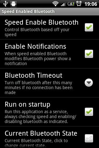 Speed Enabled Bluetooth Trial