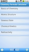 Screenshot of Chemistry Formula Calculator