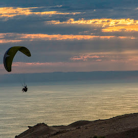 Freedom by Fico Stein Montagne - Sports & Fitness Other Sports ( flying, cielo, parapente, sunset, air sports, nikon d7000, volando, aire )