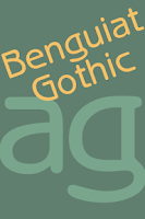 Screenshot of Benguiat Gothic FlipFont