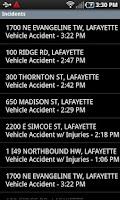 Screenshot of Lafayette Traffic