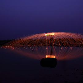 Spinning Fire by Karthi Keyan - Abstract Light Painting ( abstract, reflection, fire )