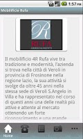 Screenshot of Mobilificio Rufa