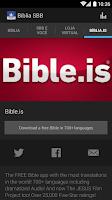 Screenshot of Bíblia SBB A Fé Vem Pelo Ouvir