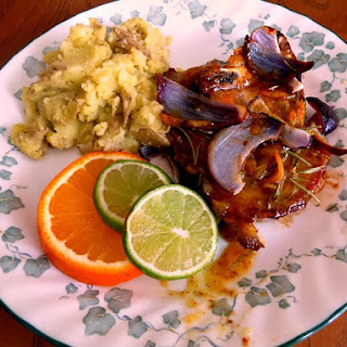 Orange-Mustard Glazed Pork Chops from Cooking Light