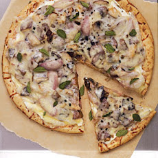 Roasted Mushroom and Shallot Pizza