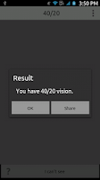 Screenshot of Visual Acuity Test