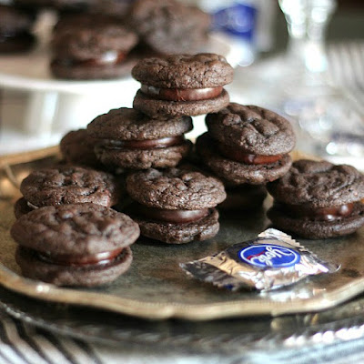 Peppermint Patty Chocolate Cookie Sandwiches