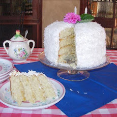 Coconut Layer Cake With Lemon Filling and Marshmallow-Like Frost