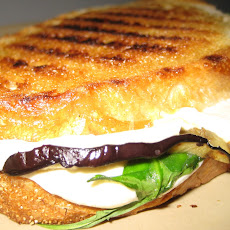 Grilled Eggplant, Arugula, and Mozzarella Panini