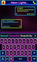 Screenshot of Neon Lights GO Keyboard Theme