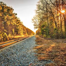 Towards Eastover by Lou Plummer - Transportation Railway Tracks