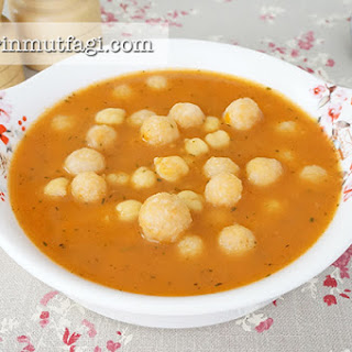 Sour Bulghur Kofta And Chickpeas Soup