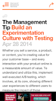 Screenshot of HBR Tips