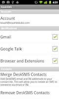 Screenshot of DeskSMS