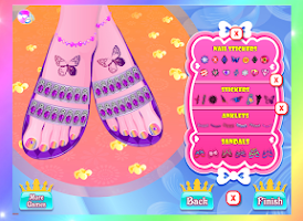 Screenshot of Princess foot spa - for kids