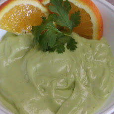 Chilled Avocado Orange Soup
