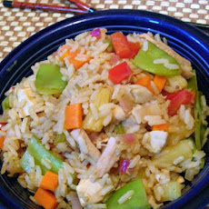 Sweet and Spicy Chicken Fried Rice